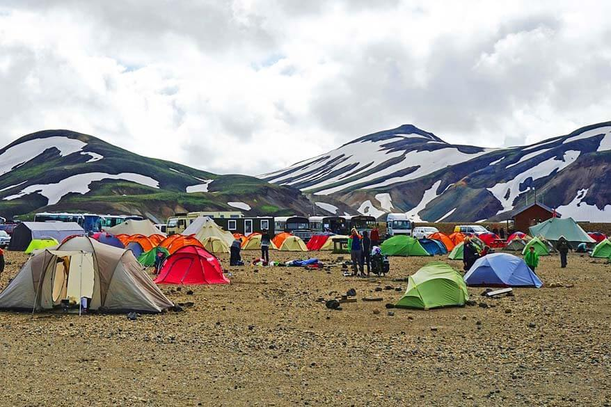 Camping in Icelandic highlands