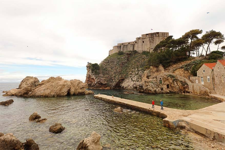 Dubrovnik West Harbor and Fort Lovrijenac