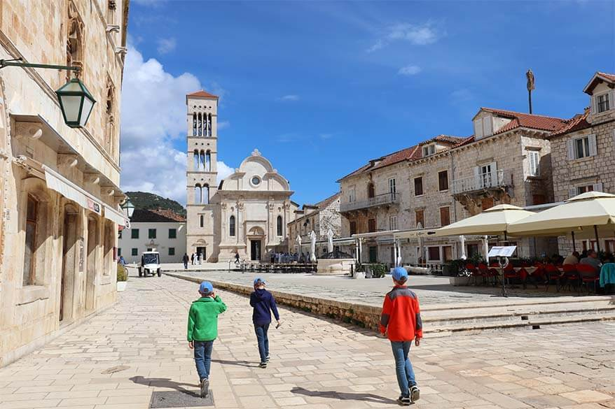 Hvar town is one of the highlights of the Blue Cave tour from Split