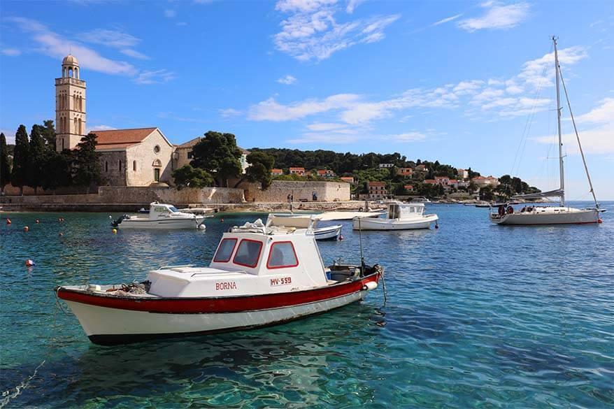Hvar town on Hvar island in Croatia