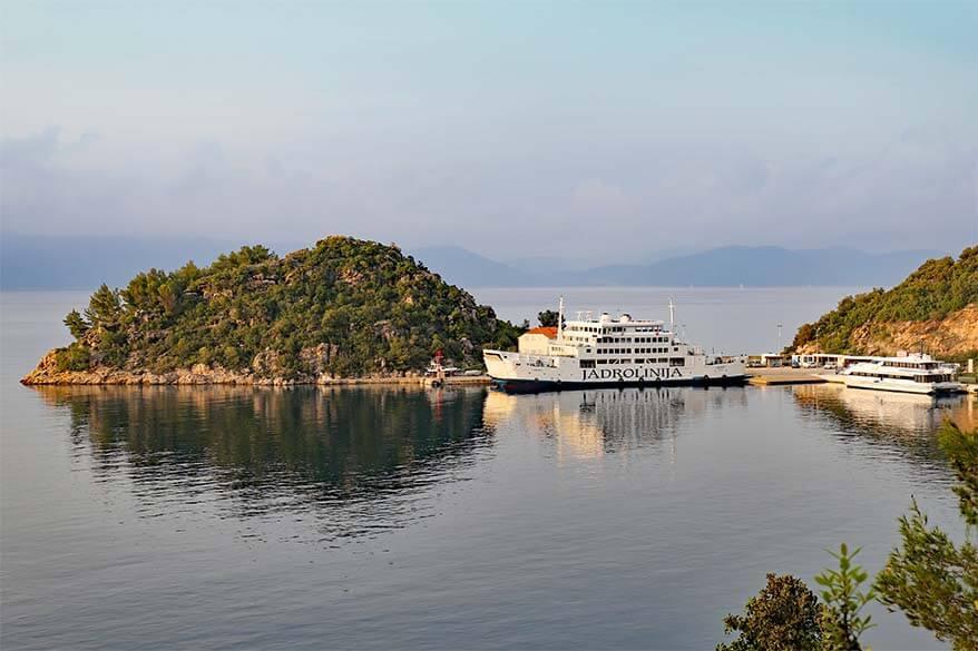 Jadrolinija ferry - best way to visit Croatian islands when traveling by car