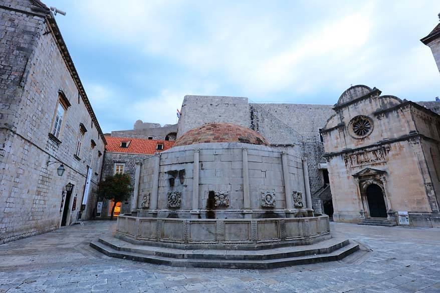 Jewish fountain in Dubrovnik Old Town