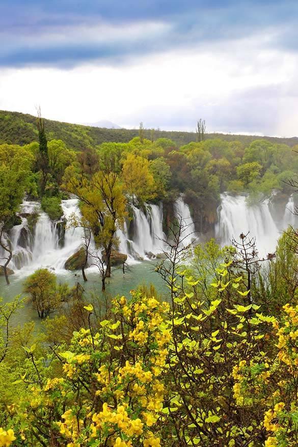 Kravica waterfall in Bosnia and Herzegovina - easy day trip from Croatia