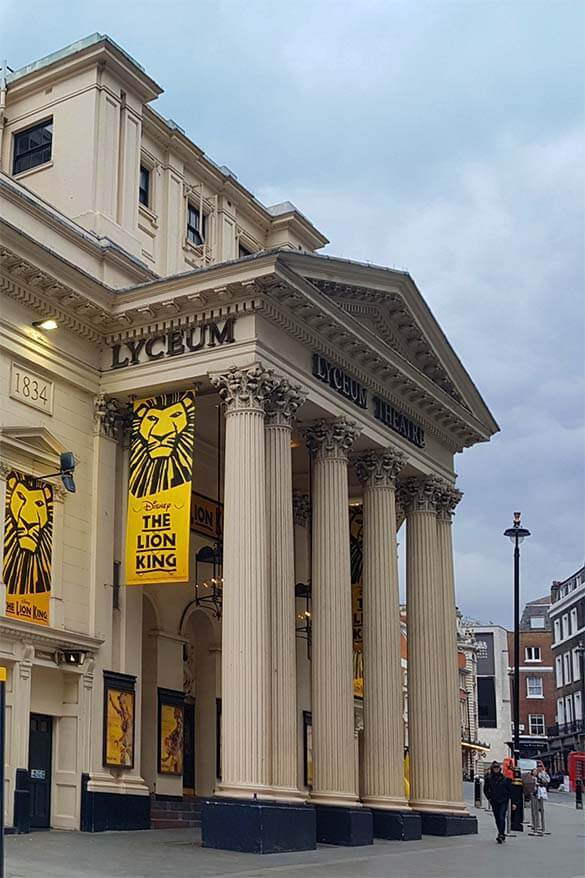 Lion king musical - one of the best things to do in London with kids