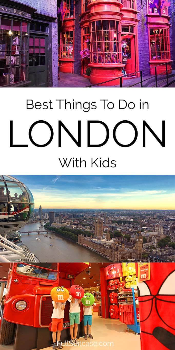 London with kids - best things to do for tourists
