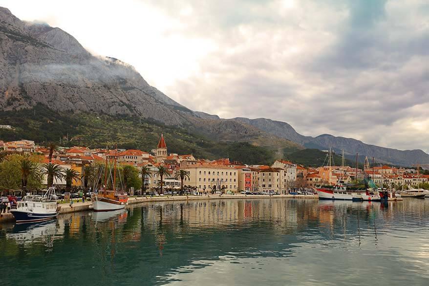 Makarska town in Croatia