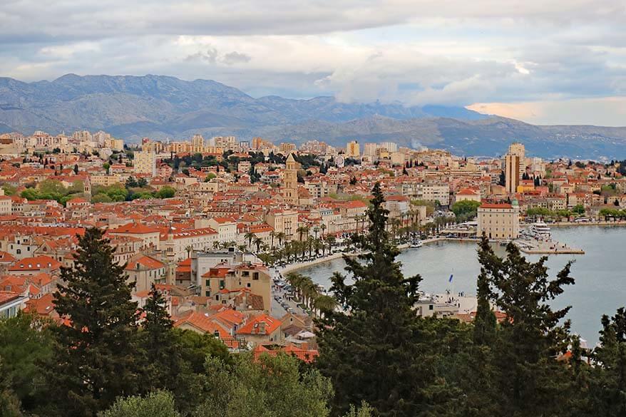 Marjan Hill viewpoint in Split Croatia