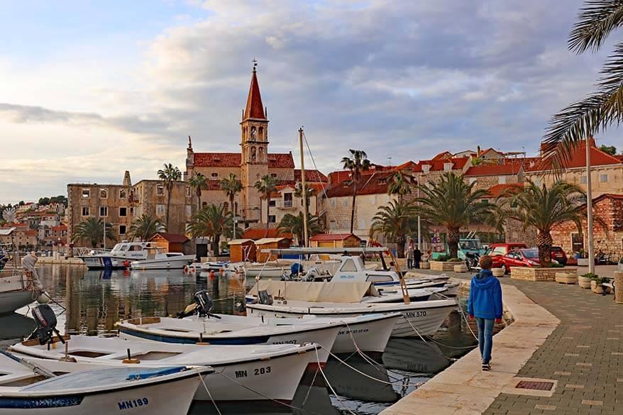 Milna - one of the best towns on Brac island in Croatia