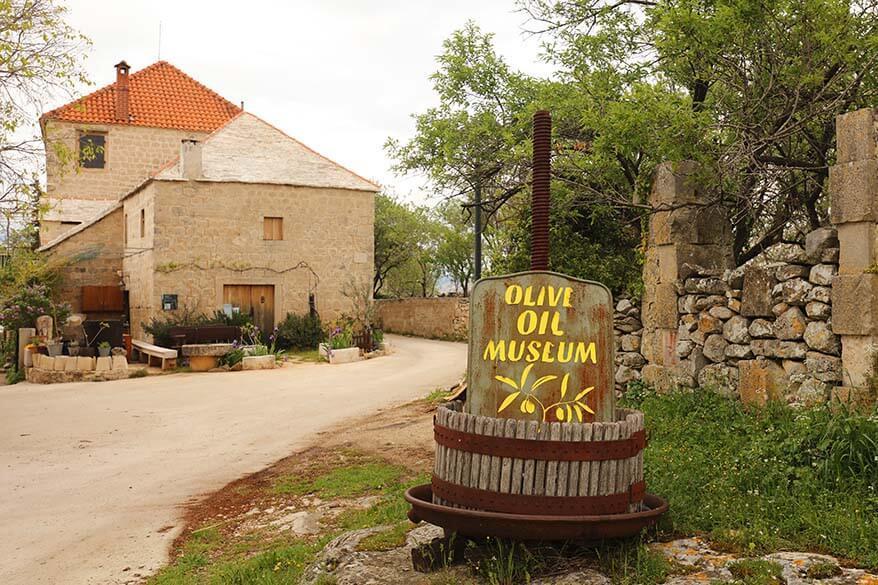 Olive oil museum in Skrip on Brac island in Croatia