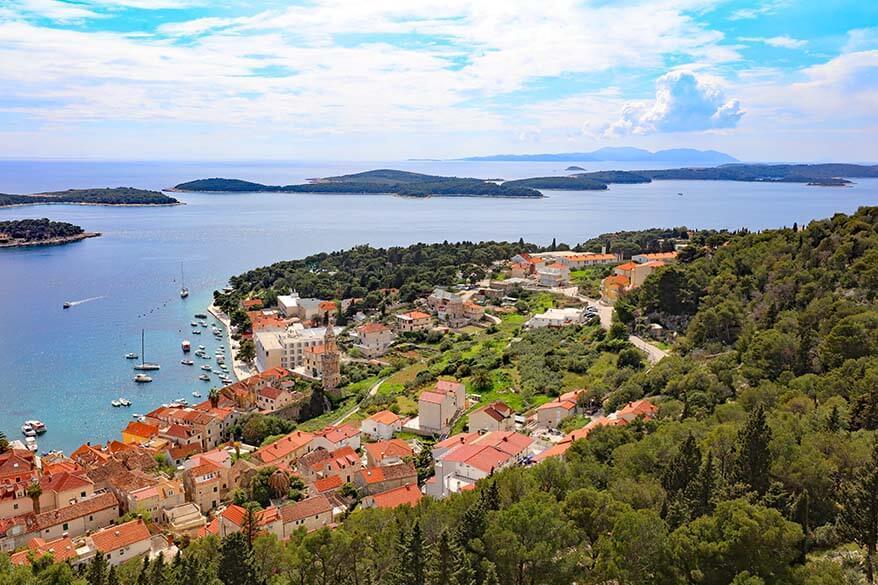Paklinski Islands as seen from Spanjola fort in Hvar