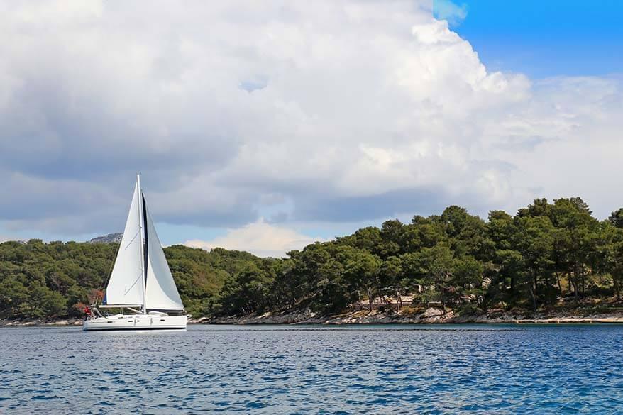 Paklinski Islands near Hvar in Croatia