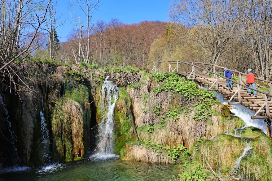 Plitvice Lakes NP in April