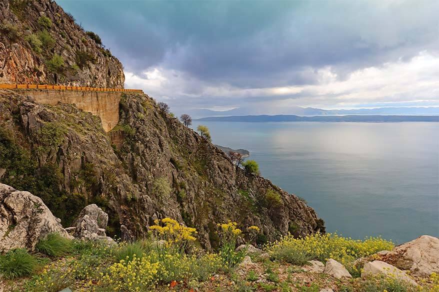Scenic road near Makarska in Croatia