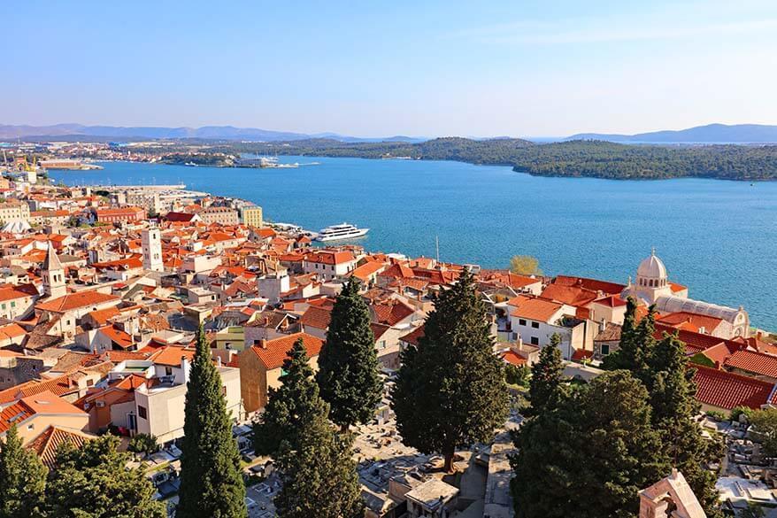 Sibenik Croatia - view from St. Michael's Fortress