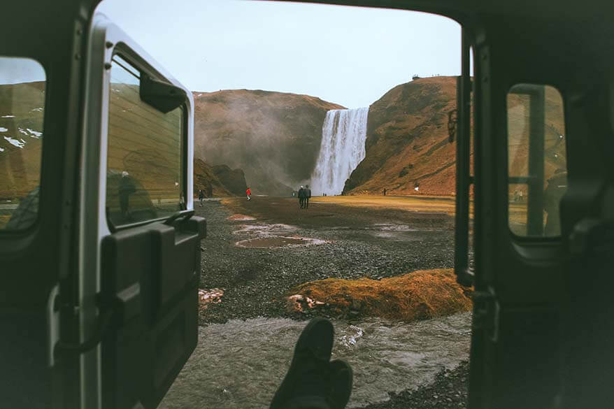 Sleeping in a car is a cheap way to camp in Iceland