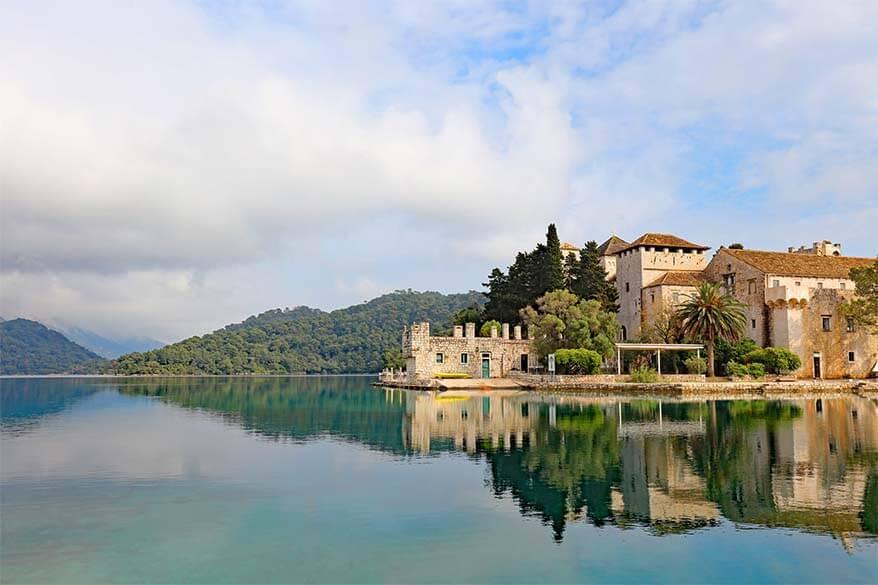 St Mary's island monastery in Mljet National Park Croatia