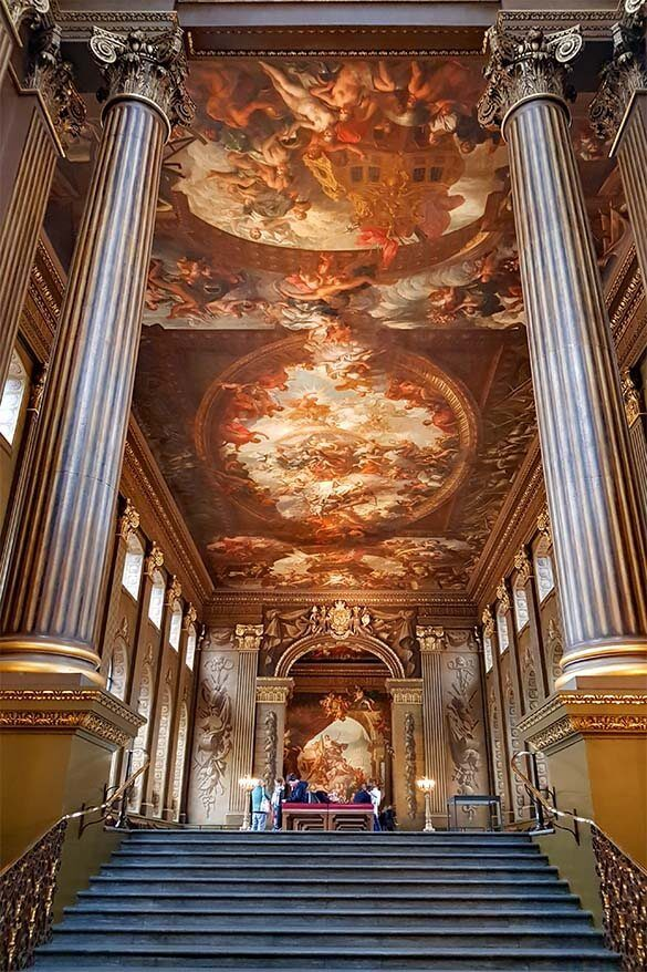 The Painted Hall in the Old Royal Naval College in Greenwich is one of the best hidden gems of London