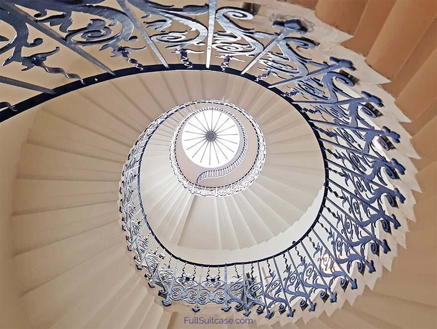 Tulip Staircase inside Queen's House in Greenwich