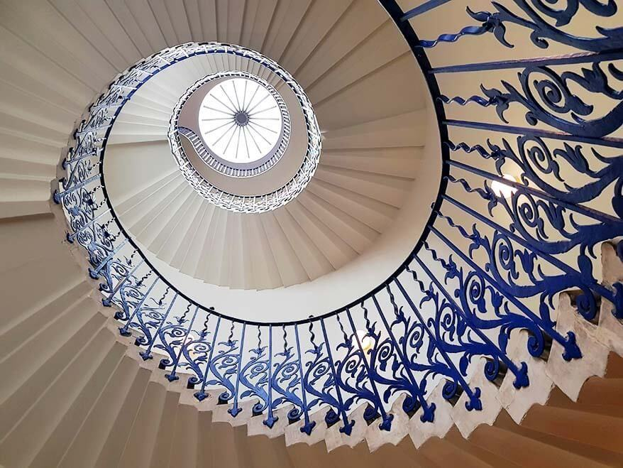 Tulip Stairs and Visiting Queens House in Greenwich, London