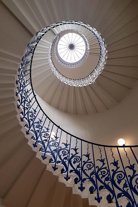 Tulip Stairs at the Queen's House is one of the most beautiful hidden gems of London