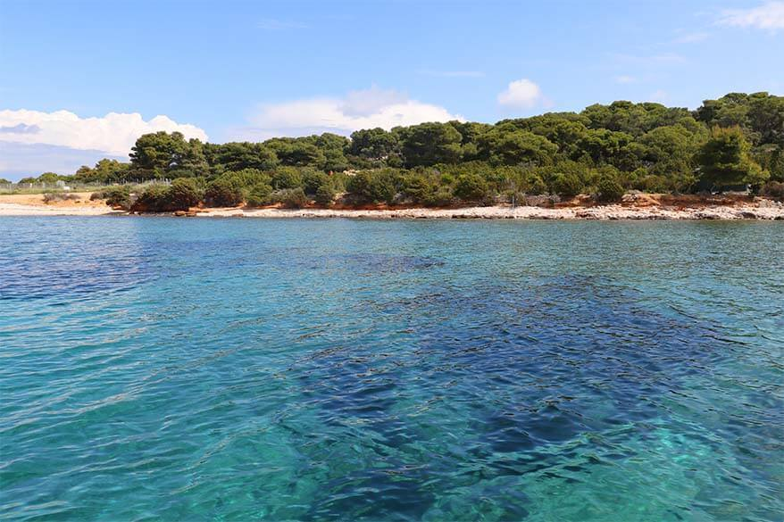 Turquoise Lagoon on Budikovac island - one of the places we visited on our Blue Cave tour from Split