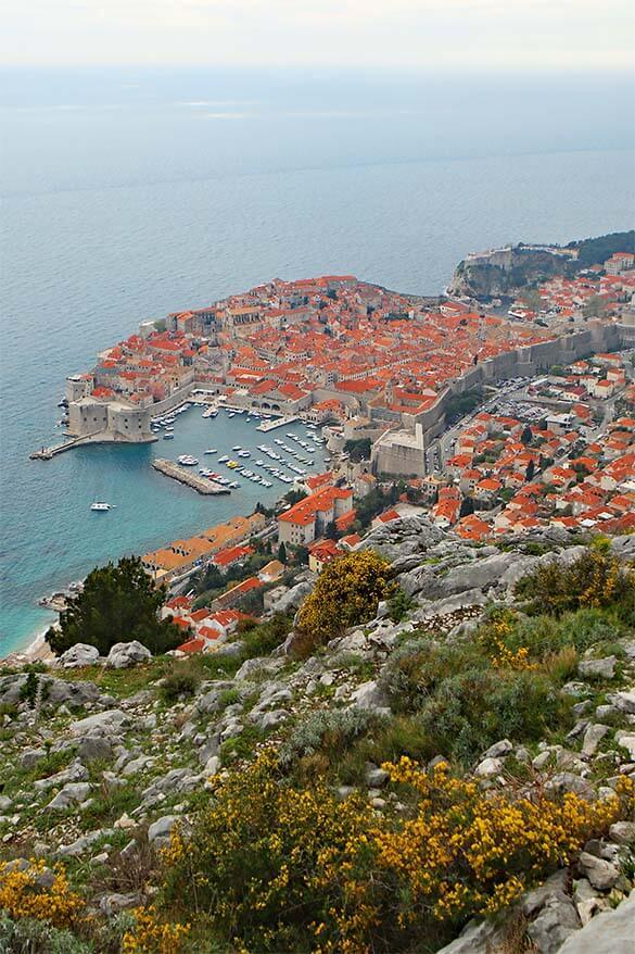 View of Dubrovnik from Fort Imperial reachable via Dubrovnik cable car