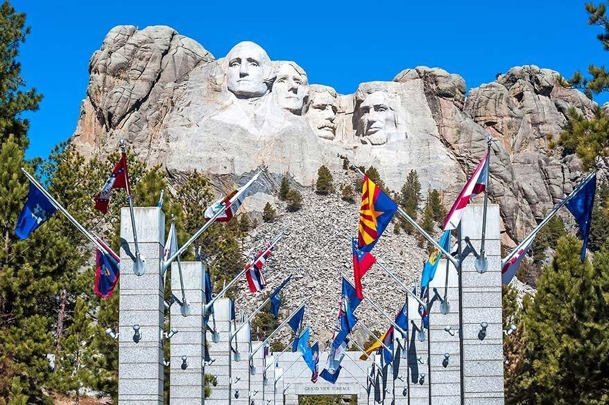 Avenue of Flags at Mount Rushmore National Memorial