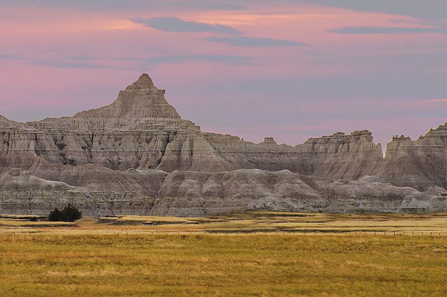 Badlands National Park - one of the best places to visit near Mt Rushmore