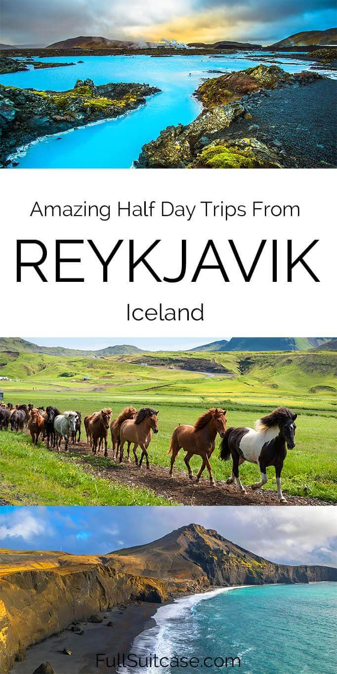 Best half day trips and tours from Reykjavik in Iceland