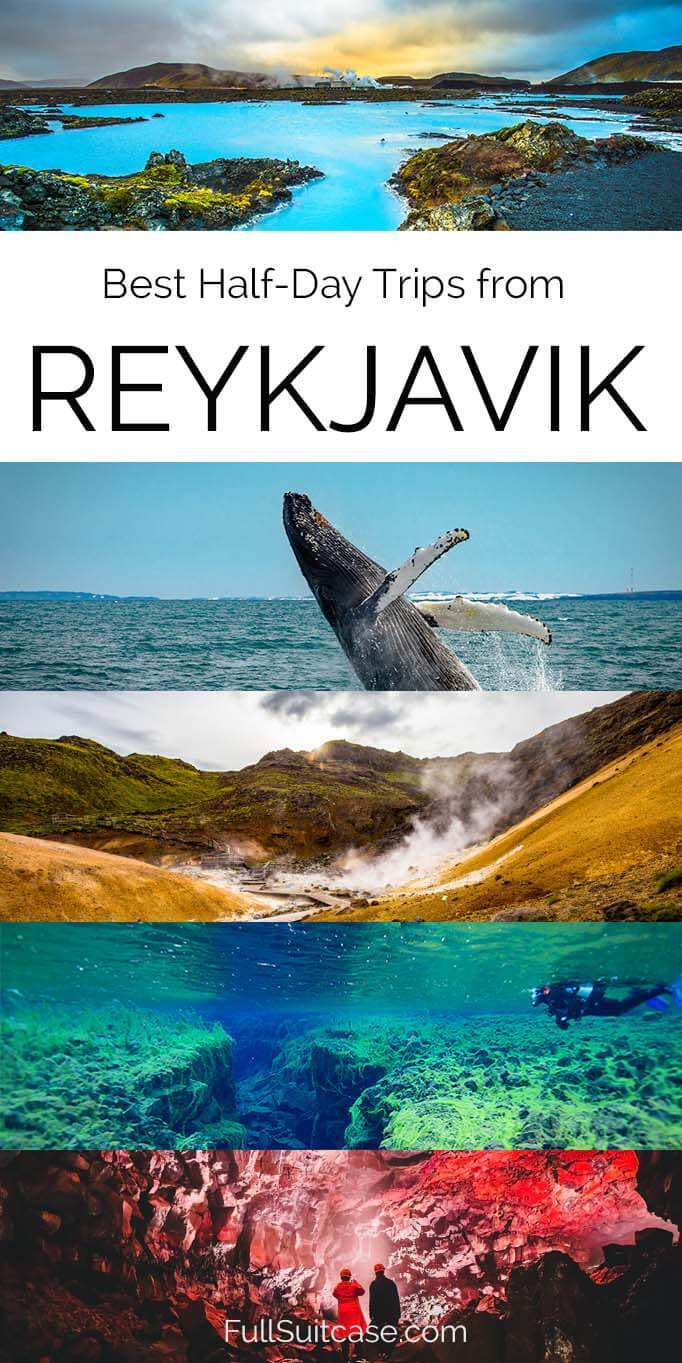 Best short day trips and tours from Reykjavik in Iceland