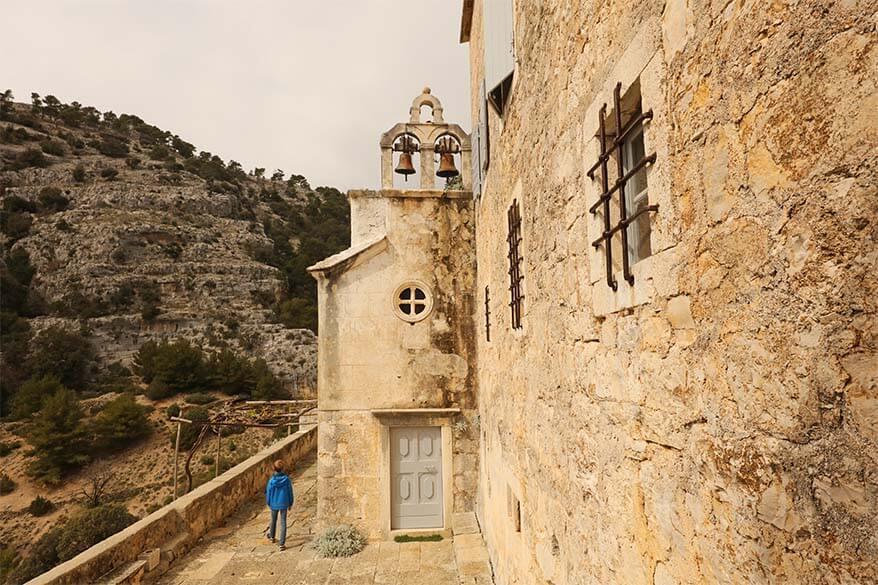 Blaca monastery on Brac Island Croatia