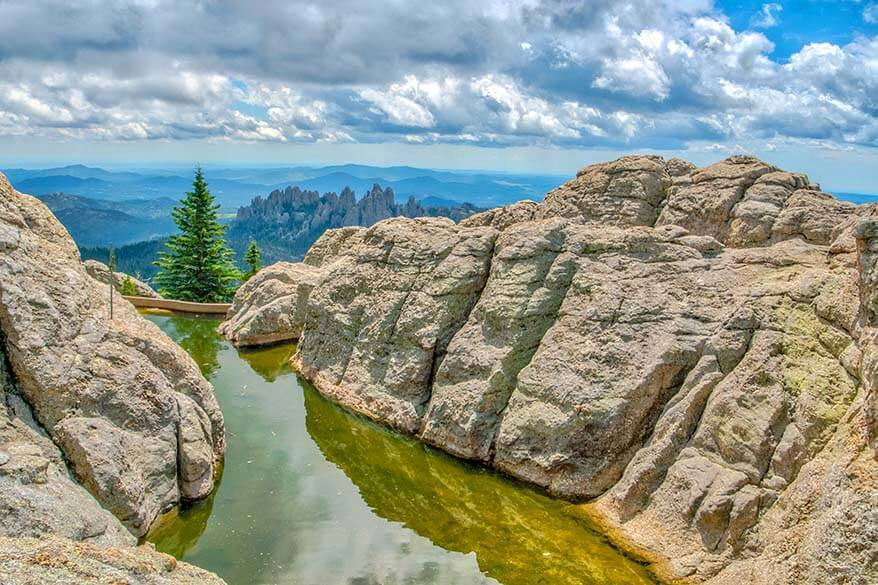 Black Elk Peak in Custer State Park South Dakota USA
