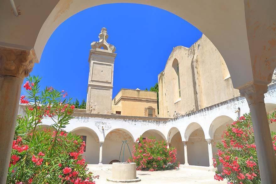 Certosa de San Giacomo monastery on Capri island in Italy