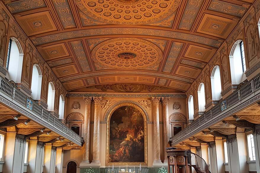 Chapel of St. Peter and St. Paul in the Old Royal Naval College in Greenwich, UK