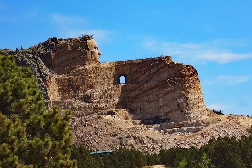 Crazy Horse Memorial in South Dakota