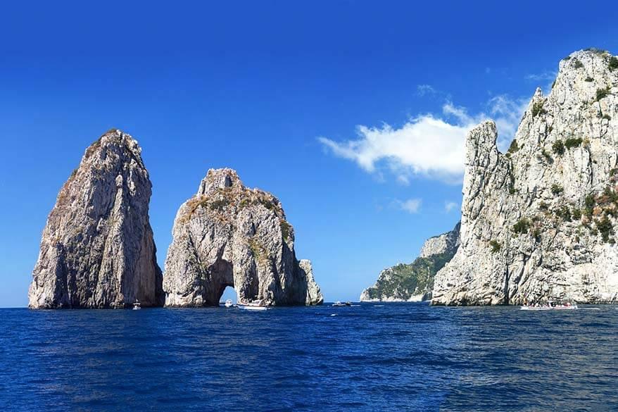 Faraglioni rock formations - one of the top Capri attractions