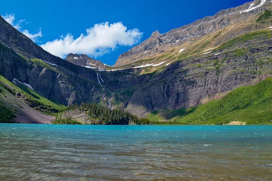 Grinnell Lake in Many Glacier area in Glacier NP Montana