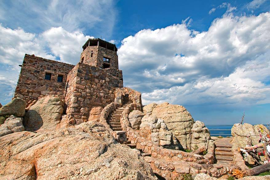 Harney Peak Fire Tower in Custer State Park