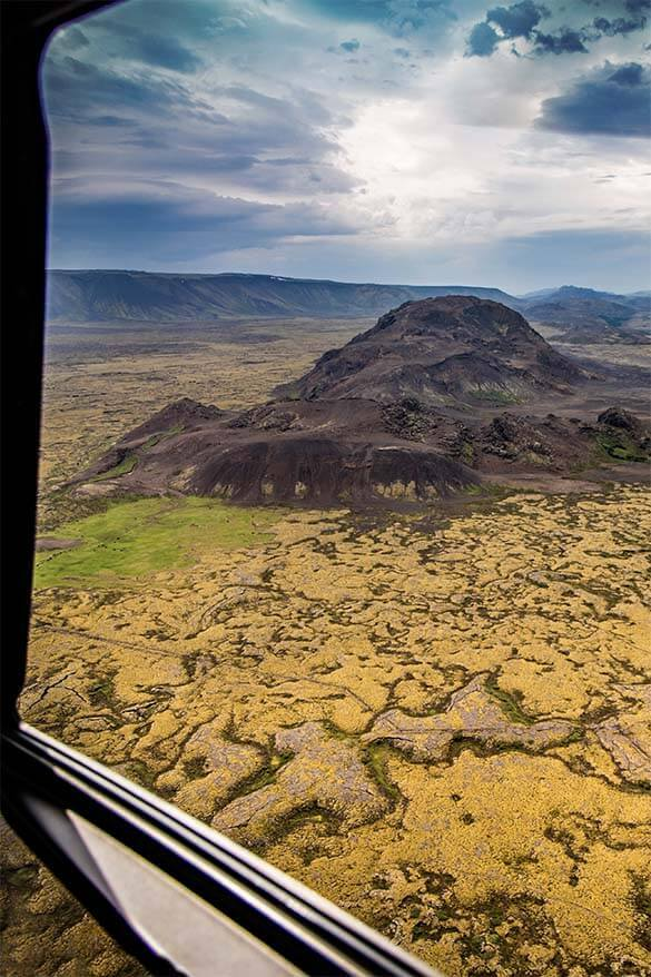 Helicopter ride is one of the best short tours from Reykjavik in Iceland
