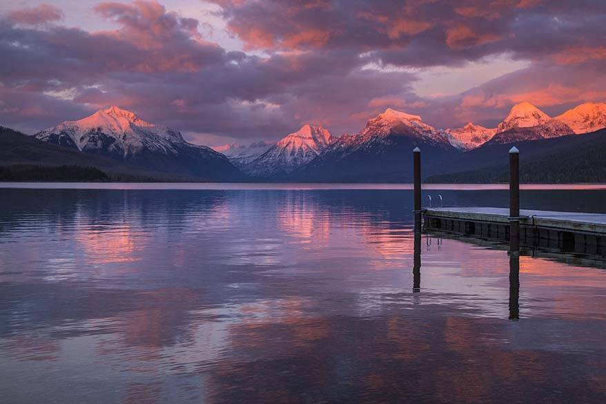 Lake McDonald sunset - must see in Glacier National Park