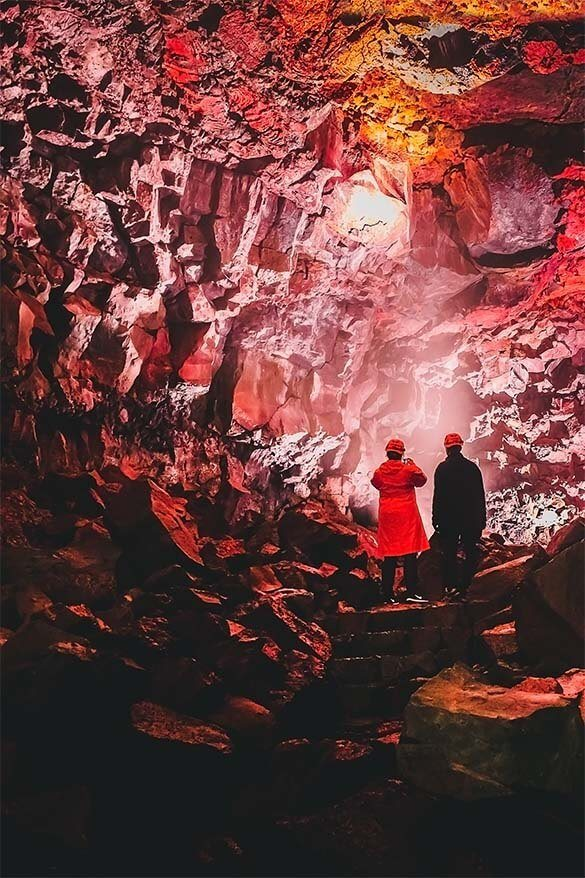 Lava caves is a good half day tour from Reykjavik