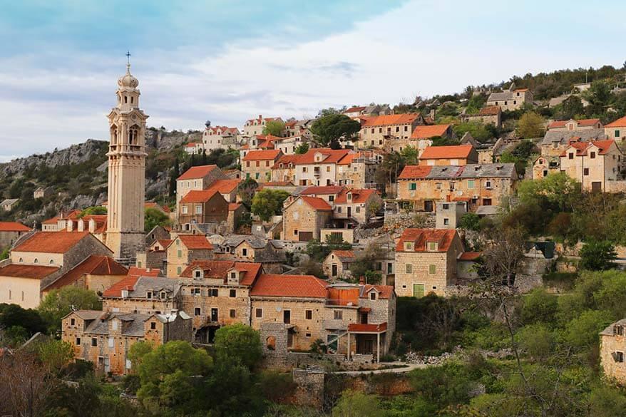 Lozisca town on Brac island Croatia