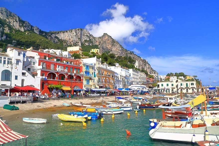 Marina Grande in Capri Italy