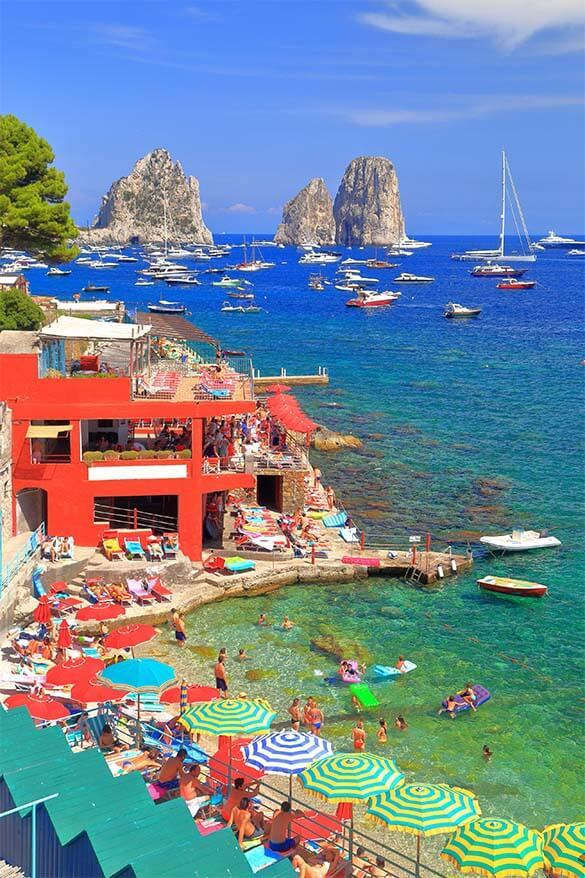 Marina Piccola is not to be missed Capri