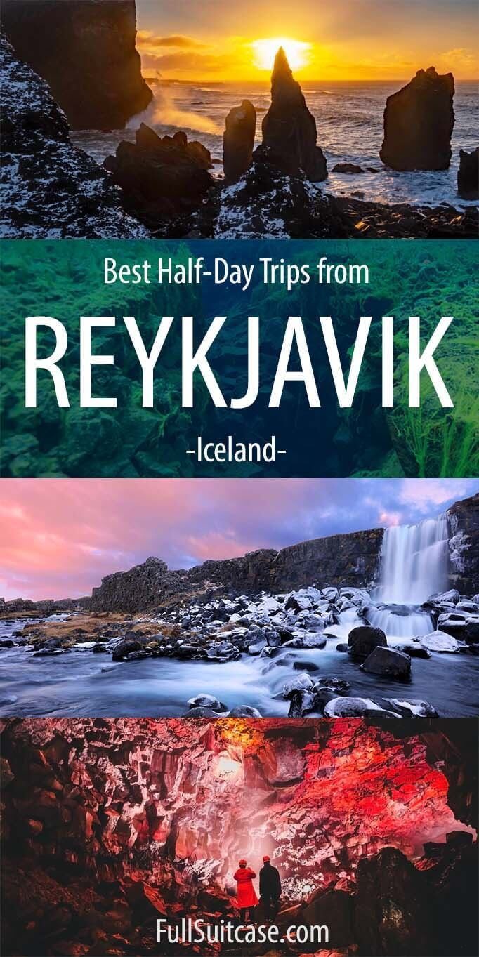 Morning, afternoon, and evening tours from Reykjavik - short day trips in Iceland