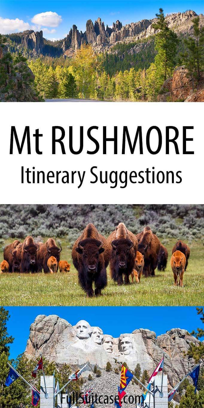 Mt Rushmore and Black Hills itinerary suggestions