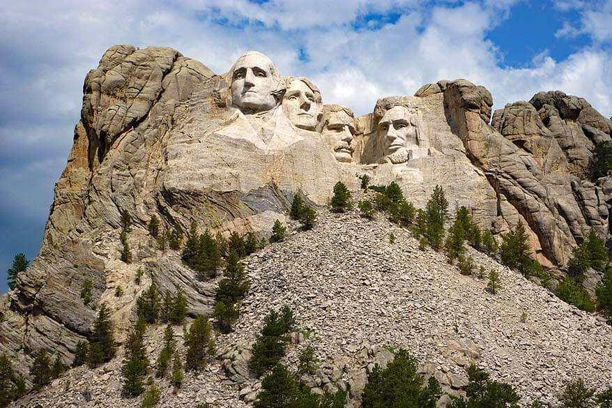 Mt Rushmore as seen from the Grand View Terrace