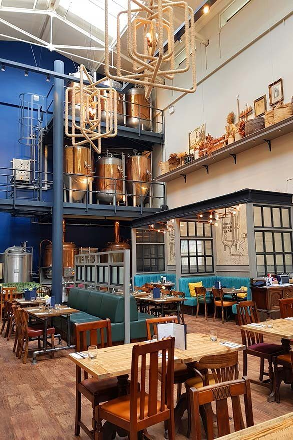 Old Brewery is a great place for lunch when visiting the Old Royal Naval College in Greenwich