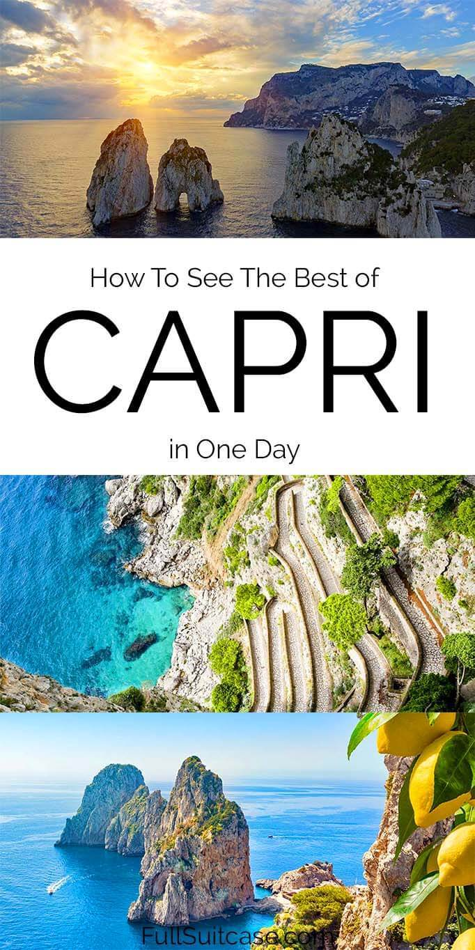One day in Capri - things to do and practical tips for your visit