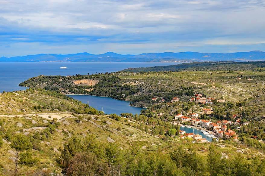 Scenic roads on Brac island in Croatia